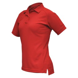 Fechheimer - VTX4010RDP - Womens Tactical Polo, Red, Short Sleeve, L