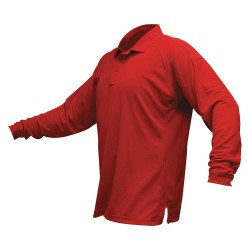 Fechheimer - VTX4020RDP - Mens Tactical Polo, Red, Long Sleeve, 2XL