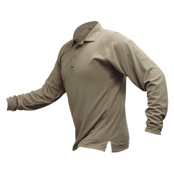 Fechheimer - VTX4020TNP - Mens Tactical Polo, Tan, Long Sleeve, 3XL