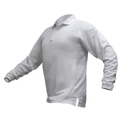 Fechheimer - VTX4020WHP - Mens Tactical Polo, White, Long Sleeve, 2XL