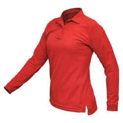 Fechheimer - VTX4030RDP - Womens Tactical Polo, Red, Long Sleeve, L