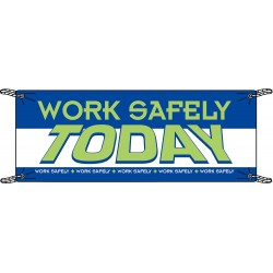 Brady - 106310 - Safety Banner, English, 3-1/2 ft. x 10 ft., 1 EA