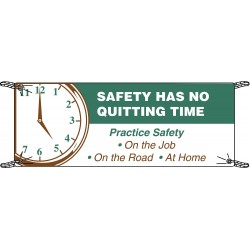 Brady - 106329 - Safety Banner, English, 3 ft. x 5 ft., 1 EA