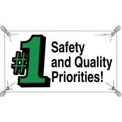 Brady - 106332 - Safety Banner, English, 3 ft. x 5 ft., 1 EA