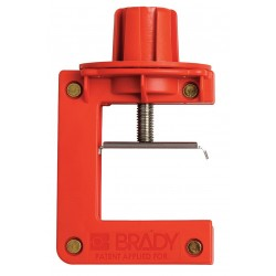 Brady - 121504 - Butterfly Valve Lockout, Red, Fits Handle Size: 1/8 to 2-1/2 Thickness, Nylon