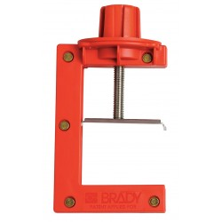 Brady - 121505 - Butterfly Valve Lockout, Red, Fits Handle Size: 2 to 4 Thickness, Nylon