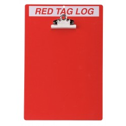 Brady - 122050 - Red/WhiteRed Tag Clipboard, Unfilled, 14 x 9-1/2