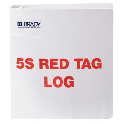 Brady - 122052 - Red/WhiteRed Tag Binder, Unfilled, 11 x 10, Polyethylene