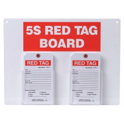 Brady - 122055 - Red/WhiteRed Tag Station, Filled, 12 x 16, Acrylic Board with Paper Tags