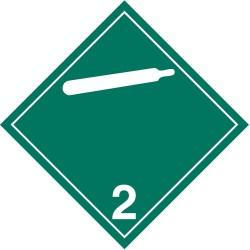 GHS Safety / Incom - GHS1285LP - Label, Wht/Green, Laser Paper, PK100