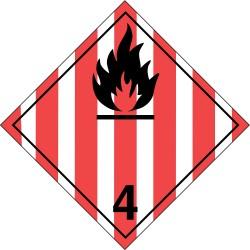 GHS Safety / Incom - GHS1288LP - Label, Wht/Red/Blk, Laser Paper, PK100