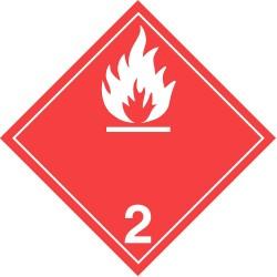 GHS Safety / Incom - GHS1284VY - Label, White/Red, Vinyl, PK100