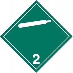 GHS Safety / Incom - GHS1285VY - Label, White/Green, Vinyl, PK100