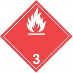 GHS Safety / Incom - GHS1287VY - Label, White/Red, Vinyl, PK100