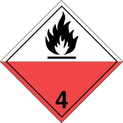 GHS Safety / Incom - GHS1289VY - Label, White/Red/Black, Vinyl, PK100