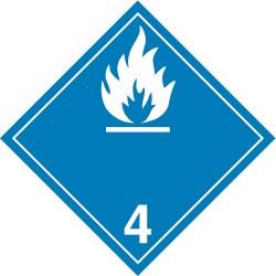 GHS Safety / Incom - GHS1290VY - Label, White/Blue, Vinyl, PK100