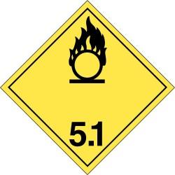 GHS Safety / Incom - GHS1291VY - Label, White/Yelllow/Black, Vinyl, PK100