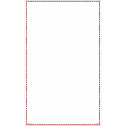 GHS Safety / Incom - GHS1277VY - White/Red Label, 14 Width