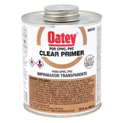 Oatey - 30753 - Primer, Clear, 32 oz., for PVC and CPVC Pipe and Fittings