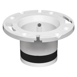 Oatey - 43539 - PVC Toilet Flange, White/Black, For Use With Most Toilets
