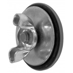 Siemens - 52AAH6 - Gray Hole Plug, Steel, 1.37 Hole Dia., Conduit Size: 0.50, Chrome Plating Finish