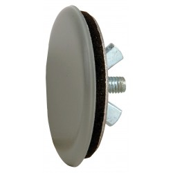Siemens - 52ABH6 - Gray Hole Plug, Stainless Steel, 1.25 Hole Dia., Conduit Size: 0.50, Chrome Plating Finish