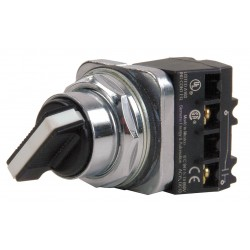 Siemens - 52SA2ACBK1 - Non-Illuminated Selector Switch, Size: 30mm, Position: 2, Action: Maintained / Momentary
