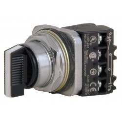 Siemens - 52SA2CABA2 - Non-Illuminated Selector Switch, Size: 30mm, Position: 3, Action: Maintained / Maintained / Maintain