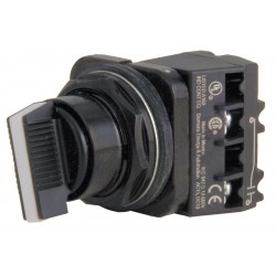 Siemens - 52SW2CABA1 - Non-Illuminated Selector Switch, Size: 30mm, Position: 3, Action: Maintained / Maintained / Maintain