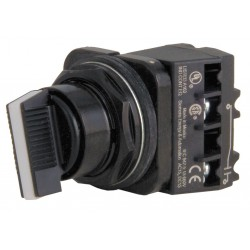 Siemens - 52SX2AABK1 - Non-Illuminated Selector Switch, Size: 30mm, Position: 2, Action: Maintained / Maintained