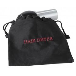 Hospitality 1 - HDBAG - Black Cotton/Poly Twill Hair Dryer Bag, 12 x 12, 1 EA