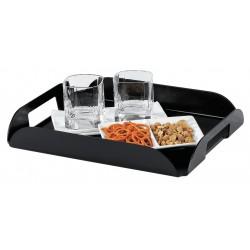 Hospitality 1 - TRCFB - Black Plastic Coffee Tray, 11 x 14 x 1-1/2, 1 EA
