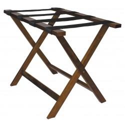 Hospitality 1 - LRWSTD01 - Hardwood Luggage Rack, 20 H X 26 W X 19 D, Cap.: 175 lb., Walnut