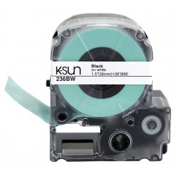 K-sun - 236bw - Label Adhesive 1 1/2 In Blk/wht (roll Of 26)
