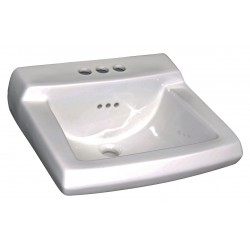 American Standard - 0124024.020 - Vitreous China Wall Bathroom Sink Without Faucet, 15 x 10-7/8 Bowl Size