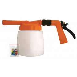 Columbia Sanitary Products - N2F48 - Safety Orange/White Plastic Spray Foamer, 3/4 GHT, 1 EA