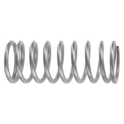 Associated Spring - C02400222000M - Compression Spring, 2in.L, 1/4in.dia, PK10