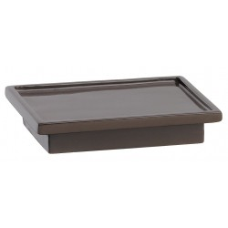 Erwyn - 13903 - Brown Resin Soap Dish, 4-3/4 x 3-1/2 x 1, 24 PK