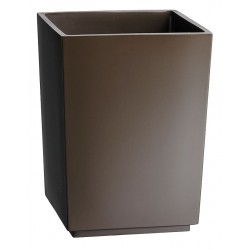 Erwyn - 13908 - Brown Resin Waste Basket, 6-1/2 x 7-1/4 x 10, 6 PK