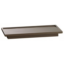Erwyn - 13907 - Brown Resin Amenity Tray, 10 x 4-1/2 x 1, 24 PK
