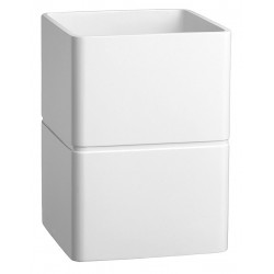 Erwyn - 14608 - White Resin Waste Basket, 7-1/4 x 7-1/4 x 10, 6 PK