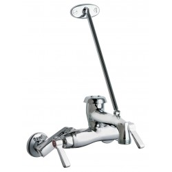 Chicago Faucet - 445-897SRCXKCP - Rigid Utility Sink Faucet, Lever Handle Type, Chrome Plated Finish