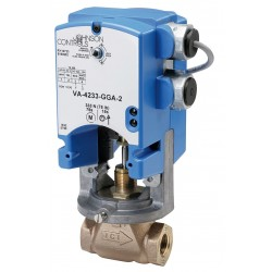 Johnson Controls - VA-4233-BGC-2 - On-Off Electric Globe Valve Actuator, 76 sec. Cycle Time, 61 in.-lb. Torque