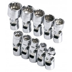 SK Hand Tool - 1336 - 1/4Drive Metric Chrome Socket Set, Number of Pieces: 10