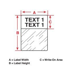 Brady - PTL-29-427-BR - Thermal Label, 1-1/2 In. L x 1/2 In. W
