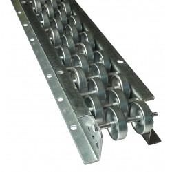 Ashland Conveyor - 10FR67515 - Flow Rail, Overall Width 5-1/4, Overall Length 10 ft., Wheel Dia. 1-15/16
