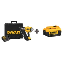 Dewalt - DCN692M1 / DCB204 - Cordless Nailer, Voltage 20.0 Li-Ion, Battery Included, Fastener Range 2 to 3-1/2