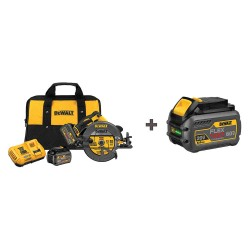 Dewalt - DCS575T2/DCB606 - 7-1/4 FLEXVOLT Cordless Circular Saw, 60.0 Voltage, 5800 No Load RPM, Battery Included