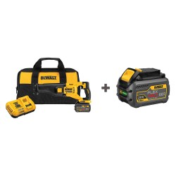 Dewalt - DCS388T1/DCB606 - FLEXVOLT Cordless Reciprocating Saw, 60.0 Voltage, Fixed, Pivoting Shoe Design, Battery Included