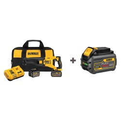 Dewalt - DCS388T2/DCB606 - FLEXVOLT Cordless Reciprocating Saw, 60.0 Voltage, Fixed, Pivoting Shoe Design, Battery Included